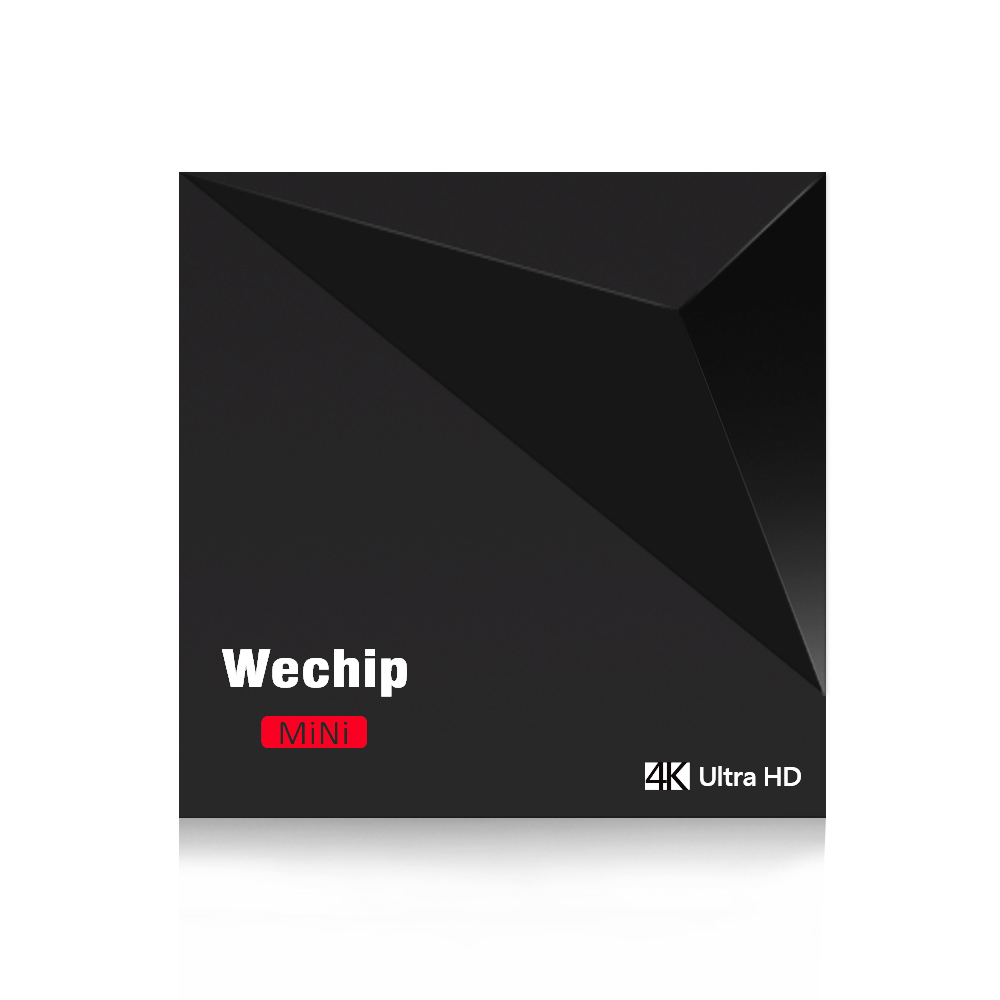 Original WeChip V6 Android 7.1 TV BOX RK3328 Quad-Core 64bit A53 1GB/8GB 2.4G Wifi