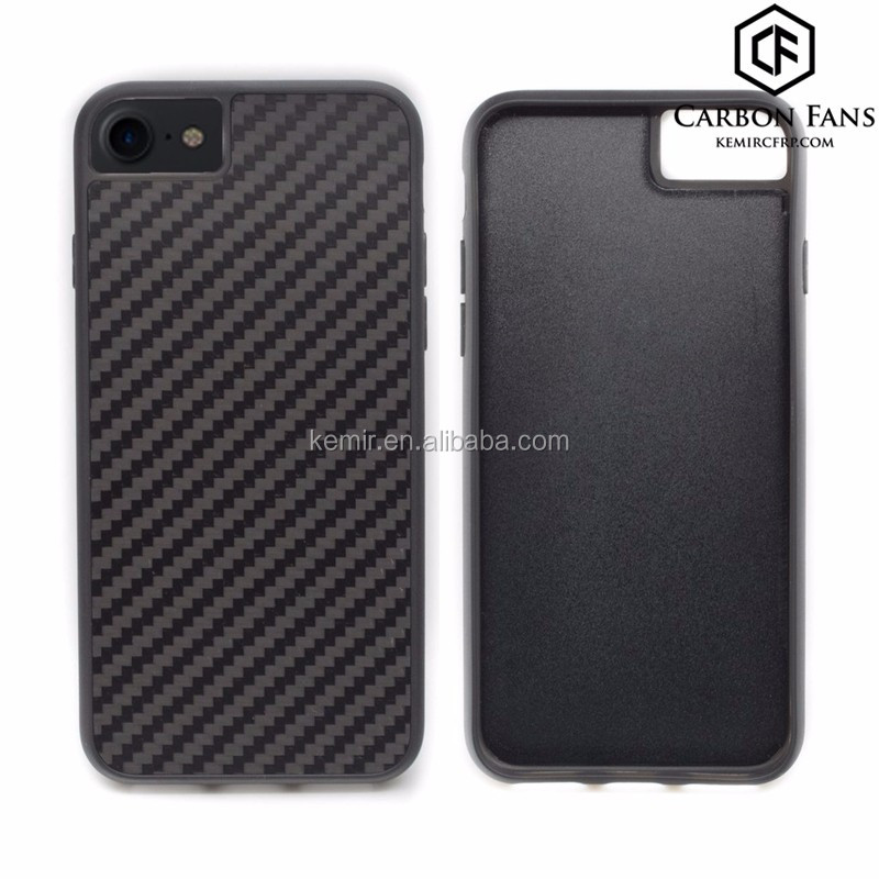 hybrid material mobile phone cases for Apple Carbon fiber with TPU iPhone 7 case