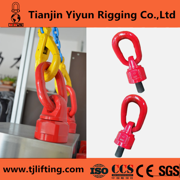 Hardware rigging heavy duty painted red round link screw hoist swivel ring
