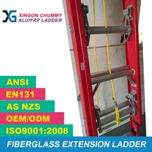 fiberglass FRP extension rope ladder 2 section with ANSI cert