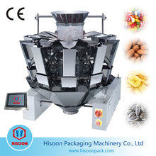 14 heads multihead combination weigher for chewing gum/cocktail biscuits/Croissant/crunch snaps/date palm/deep-freeze products