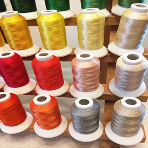 1000m 1100Y 120d/2 40color viscose rayon polyester machine embroidery thread