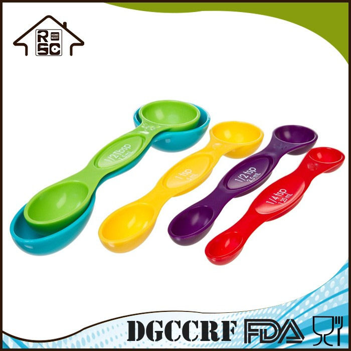 NBRSC Over 10 Years Experience Colorful Magnetic Plastic Powder Measuring Spoons Set