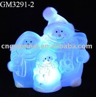 Wholesale blown christmas led snowman family maker