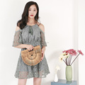 OEM fashion latest ladies summer sexy dress , wholesale women floral lace mini dress