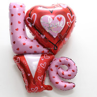 "Hot sale 81*91cm Gaint size ""LOVE"" shape foil balloon for Valentine's day"