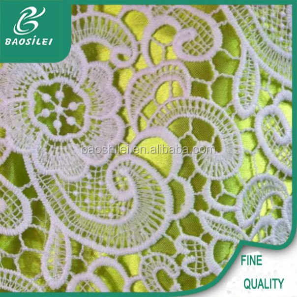 Latest Net surface lace embroidery for lace wedding dress sample embroidery lace fabric