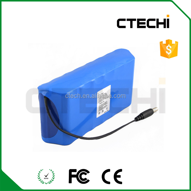 Rechargeable li ion 18650 battery pack 12Ah 11.1v lithium battery