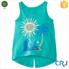 Latest Modern Girls Tops, Screen Print Tank Top