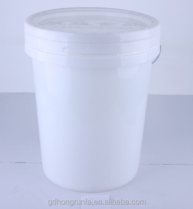 A240/24L cheap round recycle pp food grade plastic pails/drums/buckets/barrels