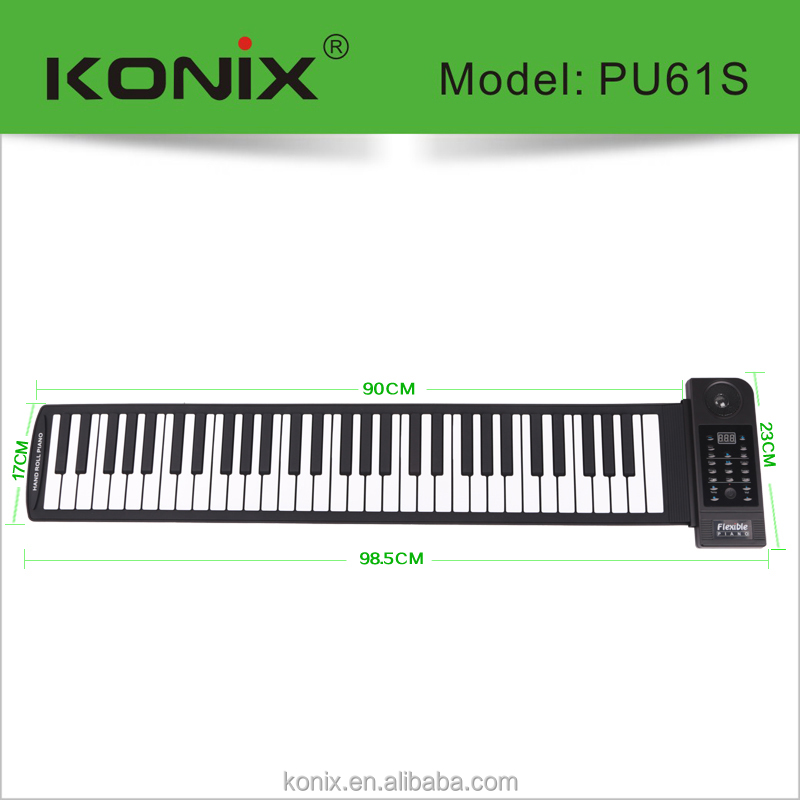 Newest Flexible Silicon Roll Up Electronic Soft Keyboard Piano 61 Keys