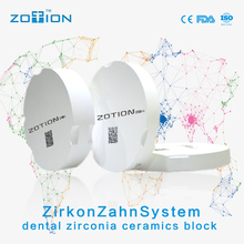 2017 Chinese denture making material Zirkonzahn dental zirconia blank