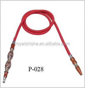 Leather Hose With Handle&Mouth Piece Wholesale Red Hose Hookah