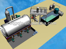 Waste tyre or plastic or rubber to fuel oil pyrolysis machine for 10 tons per day