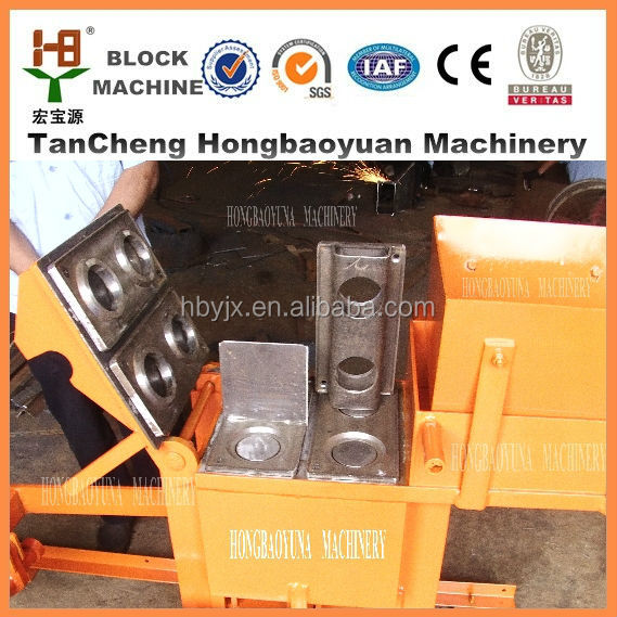 Best price for QMR2-40 clay and cement manual hand press brick making machine with video