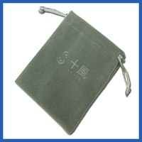 Timepieces Jewelry EMBOSSED Branded Velvet Pouch
