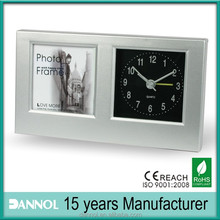 photo frame guangzhou/photo frame insert clock/photo frame with clock
