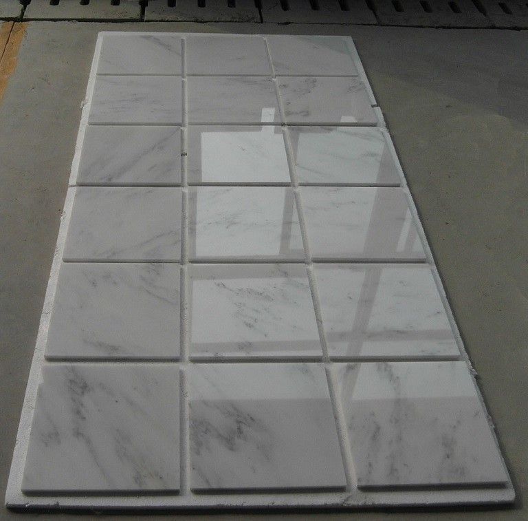 Cheap Small Square Marble Tiles Beige Color Marble Tiles