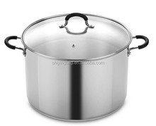 stainless steel large stock pot/professional stock pot
