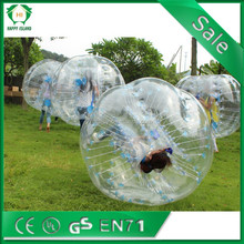 Exciting body game 0.8mm TPU/PVC corporate bubble template