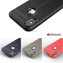 Lichi leather Auto focus TPU shockproof phone case for iPhone X case