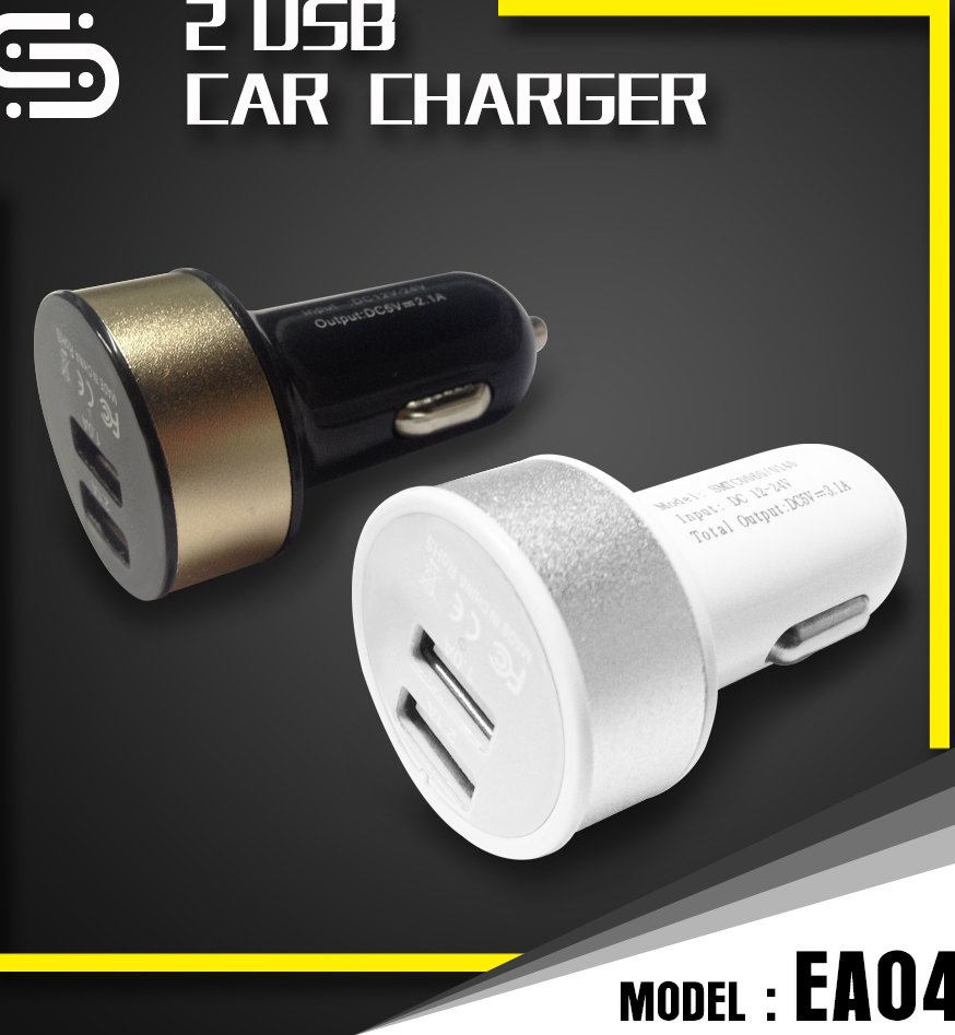 High Speed USB Car Charger 2.1A Adapter for Samsung iPhone 5c, 5S, 6 6 Plus 7