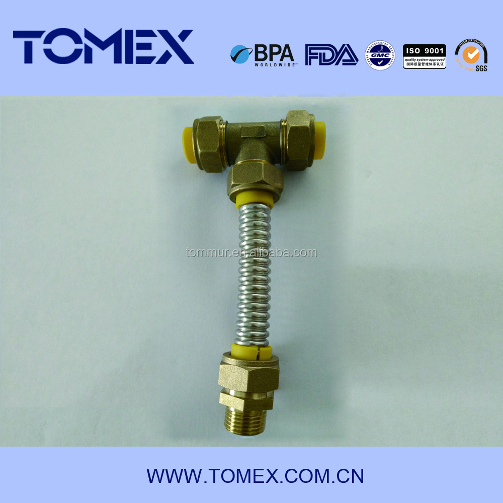 2015 China supplier manufacturing brass compression fittings uae for corrugated pipe
