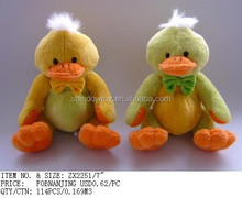 cute and lively stuffed customized plush duck yellow lovely duck