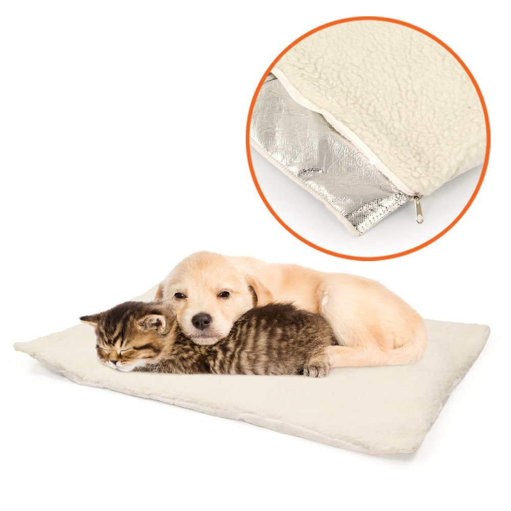 Self Heating Snooze Pad Pet Bed Mat for Pets Cats, Dogs and Kittens for Travel or Home