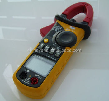YH330A Digital Clamp Meter Multimeter AC DC Electronic Tester Mini AC Clamp Meters 1999 Counts Hook on ammeters