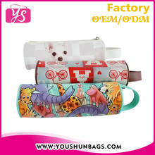 lovely animal school printed pencil pouch bag PVC leather custom pencil case for teenagers