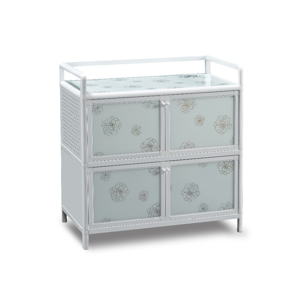 modern fashion flower design aluminum kitchen storage cabinet