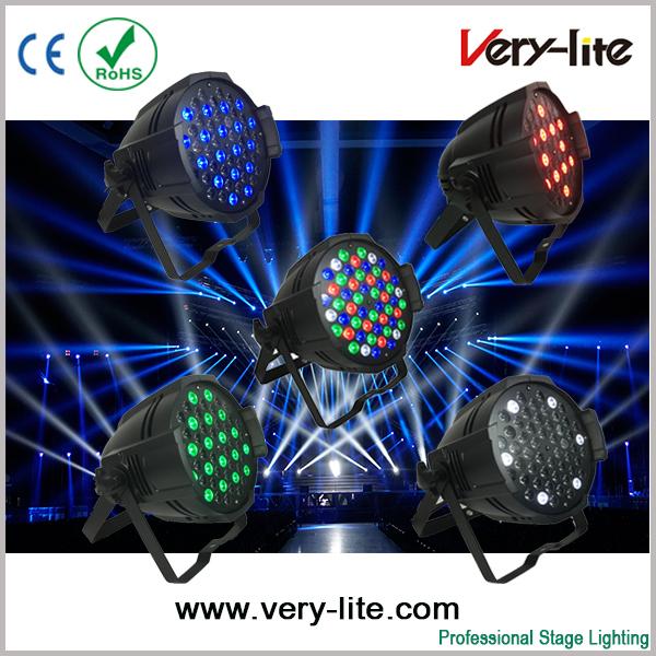 Led 54*3W Par can RGBW Single Color LED Par Light Bar Disco KTV LED par lights DMX512 Stage Light