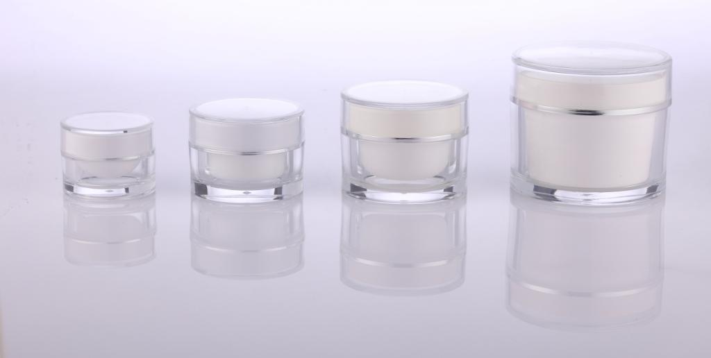 black frosted plastic cosmetic jars