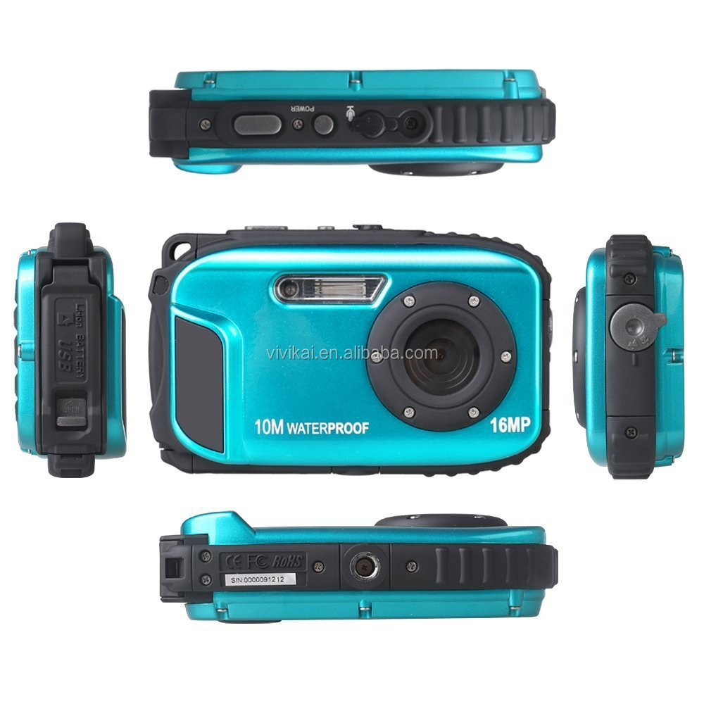 Professional waterproof camera ,10M underwater sports digital camera coms sensor camera