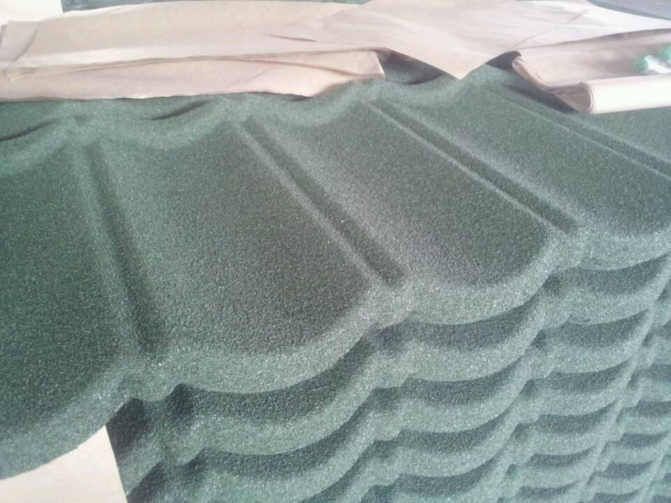 Cheap price high quality building material stone chip coated metal roof tiles