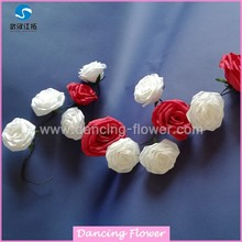 Decorative Artificial Rose Flower Garland With Leaves (GFCH-08)