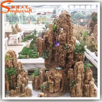 Lifelike and life size all types of cheap artificial rock fiberglass fake artificial stone rock prices