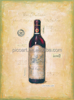handpainted still life wine bottle oil painting on canvas for decoration