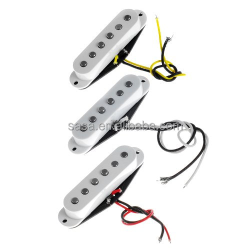 1set of 3 Stratocaster Pickup Alnico V Vintage Single Coil Pickup And Fiber bobbin, SFSA-WH