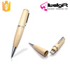 2 in 1 Multifunction Wooden Pen shape USB 2.0 Flash Drive