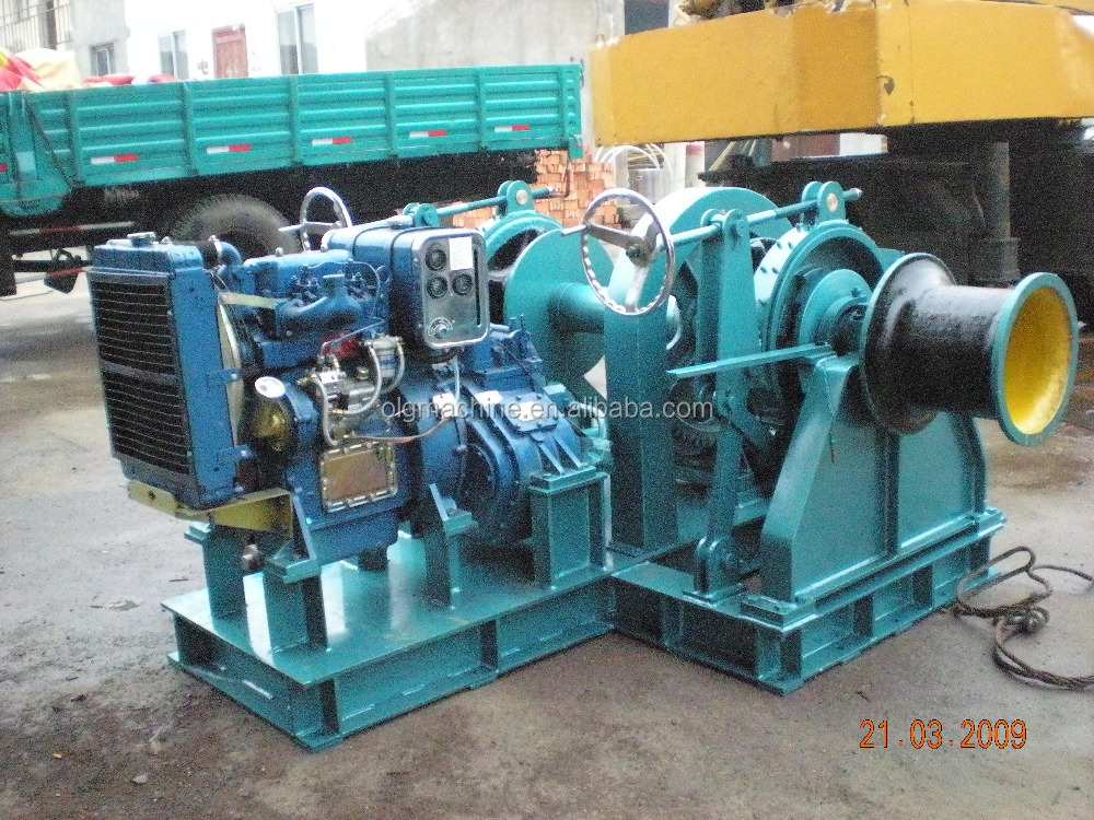 Diesel Engine Driven Anchor Winch