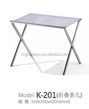 Small stainless steel outdoor folding tea table furniture design