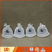 OEM home decoration small animals on a clock polyresin figurine handicraft