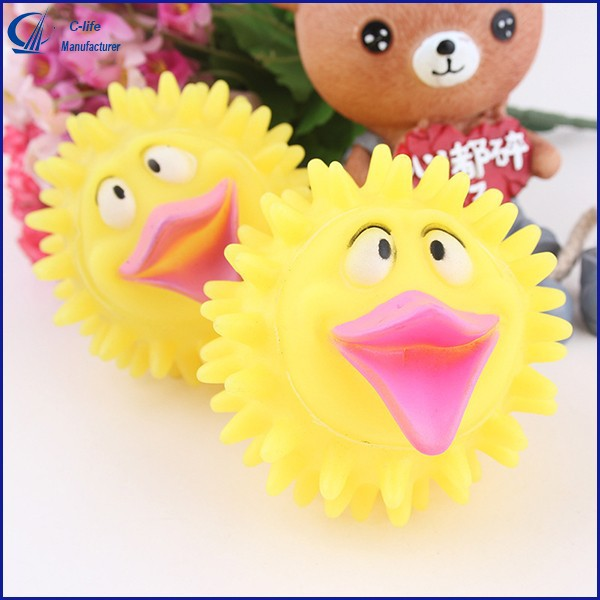 Cute Duck Chick Bird Rubber Sound Quacker Doll Toy
