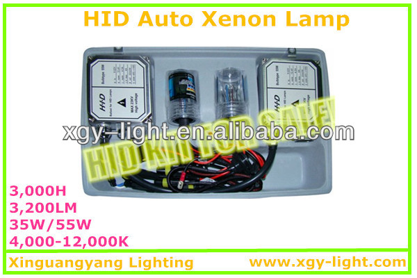 2013 new hid lamp 35w/55w H1 H3 H4 H7 H11 9005 9004 9006 hid xenon kit hid lighting promotion! hot sale!