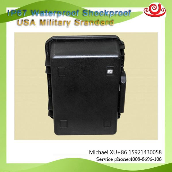 Tricases M2400 hard plastic injection moled waterproof shockproof equipment case with customize foam