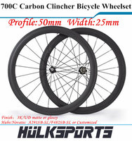 Road bicycle wheel 700c 50mm profile 25mm width carbon road bike clincher wheel carbon clincher wheel wheelset