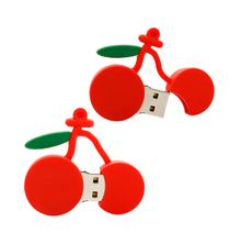 Lovely Cherry shape USB drive, Special custom designed Cherry usb flash memory disk,100% cute USB key