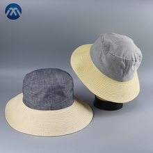 2017's new collapsible paper brim fashion bucket hat